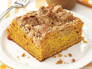 """Better For You"" Pumpkin Coffee Cake"