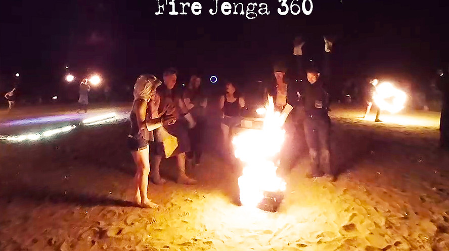 Fire Jenga 360 at Ignite Flow Arts 2017