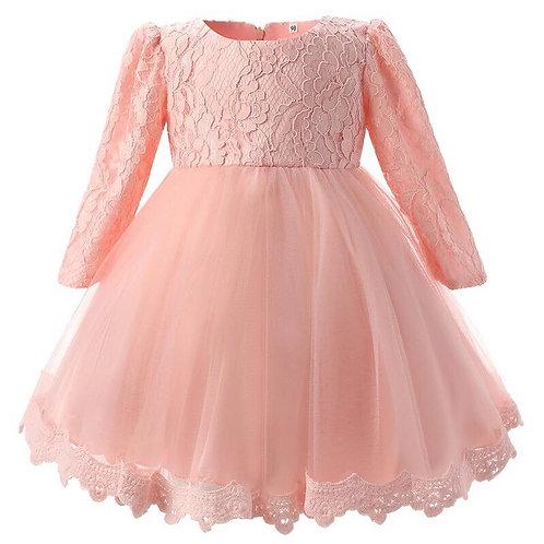 Pink Aurora Lace Dress