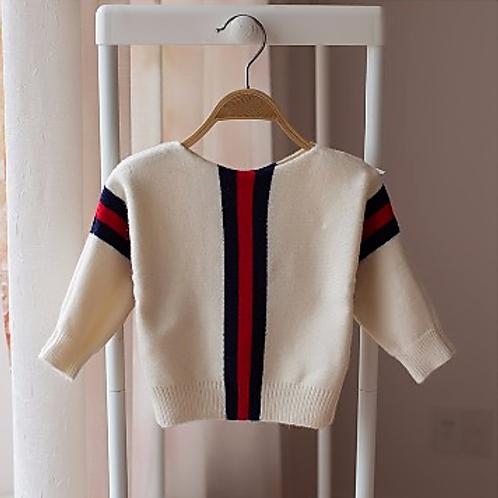Figlio Di Milano Wool Sweater In Cream