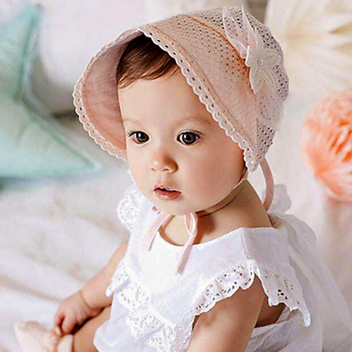 Cotton Vintage Pink Bonnet
