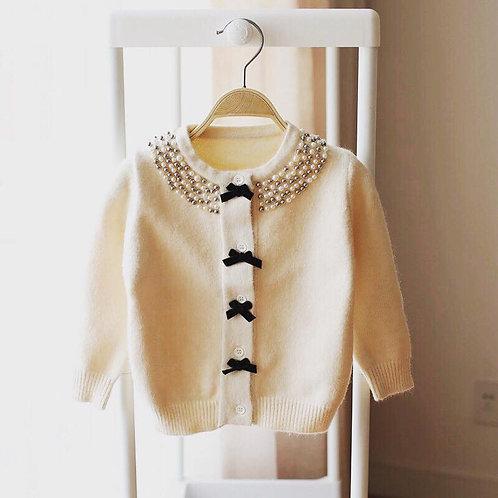 Charlotte 100% Merino Wool Pearl Cardigan