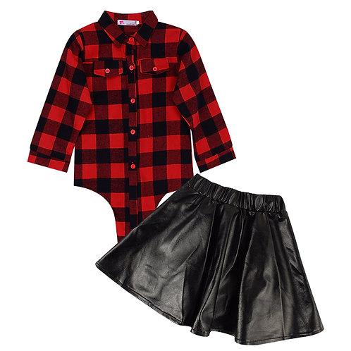 Calabasas Cutie Shirt and Skirt Set
