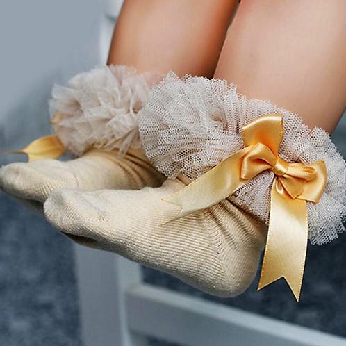 Gold Tutu Socks