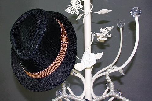 Black Hessian Trilby Hat