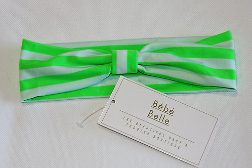 Green Striped Hairband