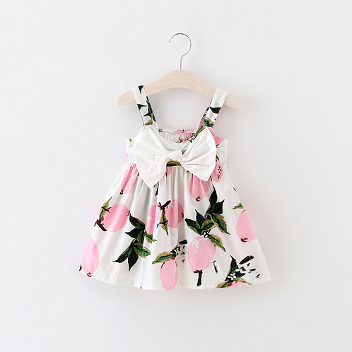 Bebes Bow Pink Lemon Dress