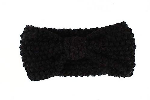 Black Crochet Headband