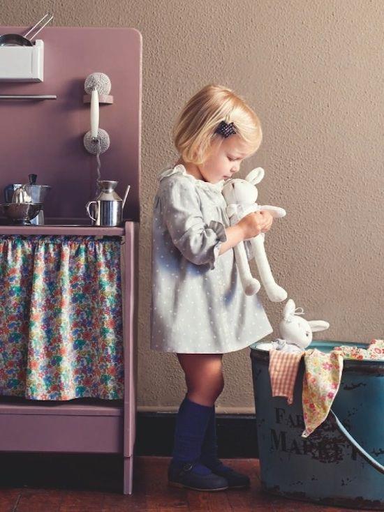 Bébé Belle Navy Blue Organza & Cotton Knee High Socks