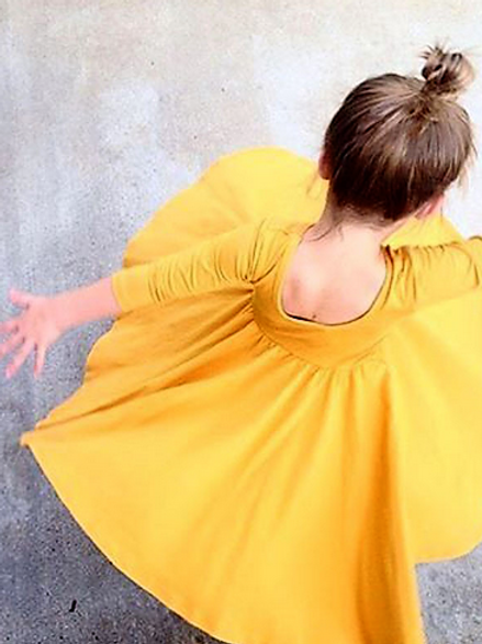 Yellow Forest Twirl Dress