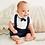 Thumbnail: Little Prince Shirt and Brace Shorts Set