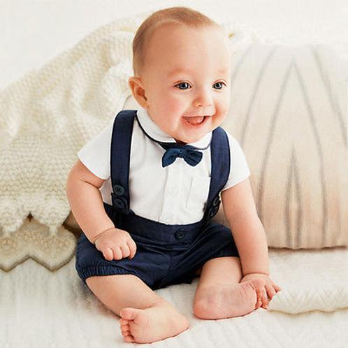 Little Prince Shirt and Brace Shorts Set