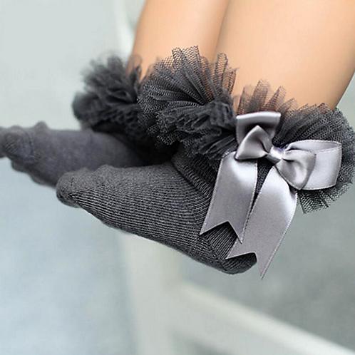 Grey Tutu Socks