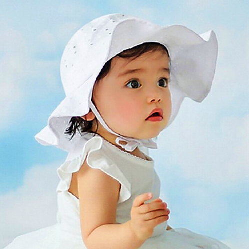 Pretty Petal White Sun Hat