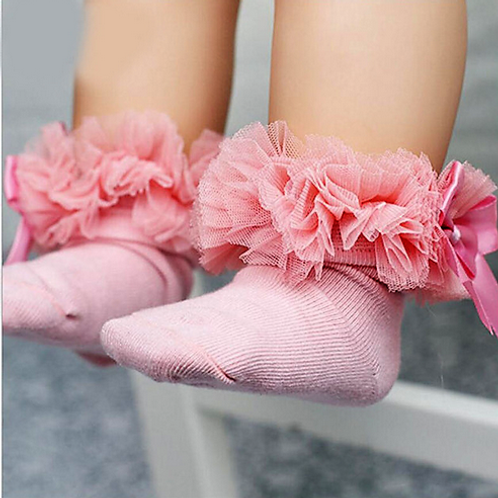 Dusty Pink Tutu Socks