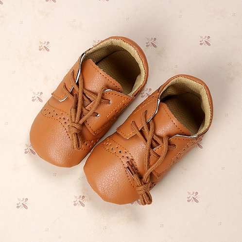 Tan Baby Leather Brogues