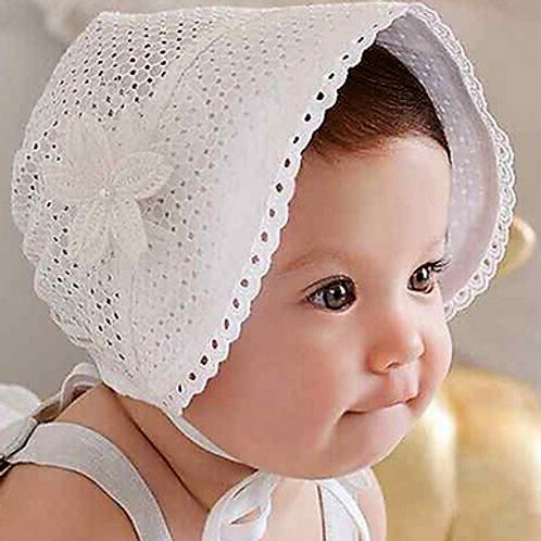 Cotton Vintage White Bonnet