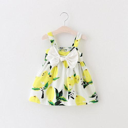 Bebes Bow Yellow Lemon Dress