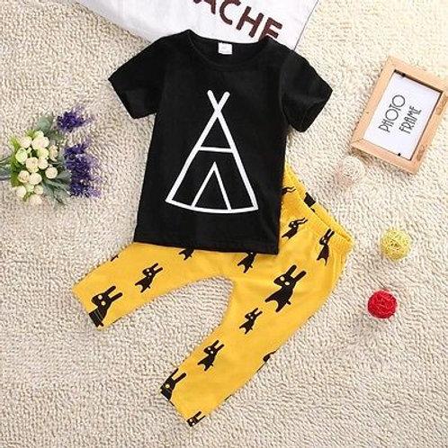 Cheeky 'Lil' Rabbit Tipee T-Shirt & Trouser Set