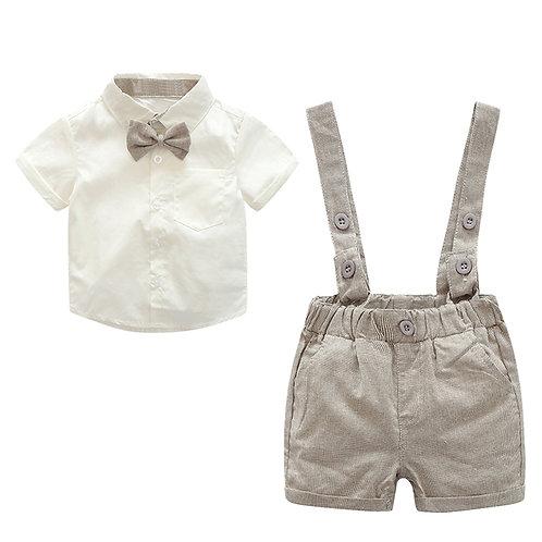 Little Gentlemen Shirt & Brace Shorts Set