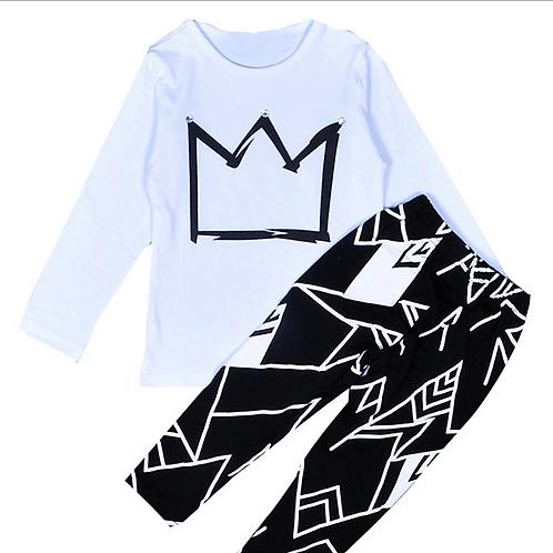Runway Royal t-shirt and trouser set