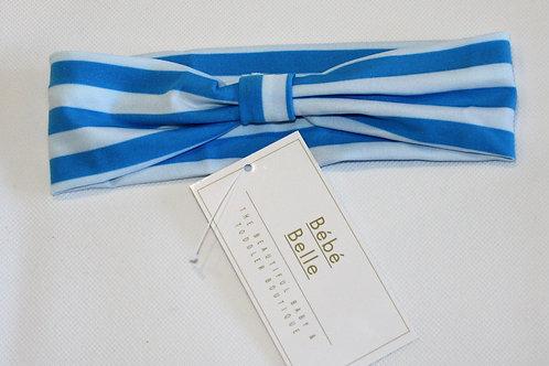 Blue Striped Hairband