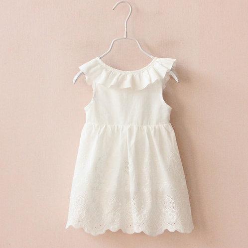 Meadows & Bows White Lace Detail Dress