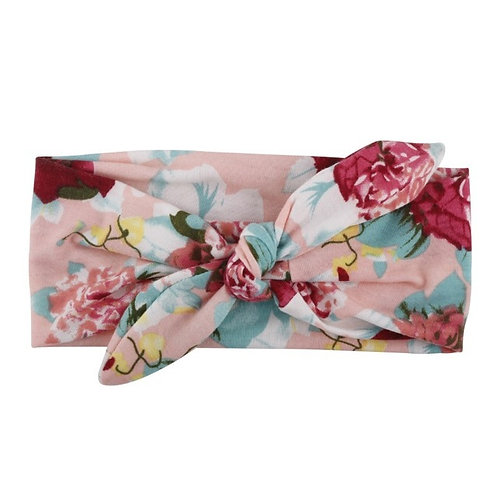 Blush Floral Bowknot Hair Band
