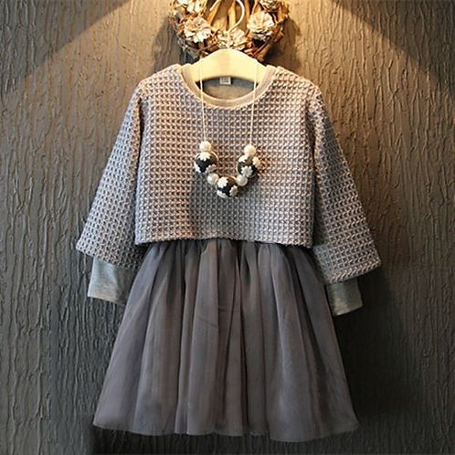 Waldorf Grey Tutu Dress Set