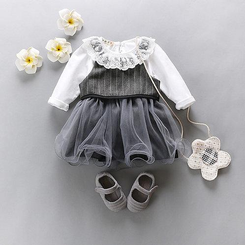 Cheltenham Grey Lace Tutu Dress & Blouse