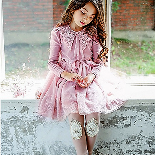 Anastasia Dress in Dusty Pink