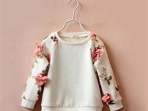 Pretty Little Petal White Sweater