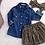 Thumbnail: Kibibi Leopard Print Skirt, Headband and Denim Shirt Set