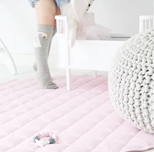 Bébé Belle Swan Princess Grey Knee High Socks
