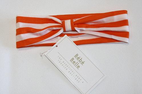 Orange Striped Hairband