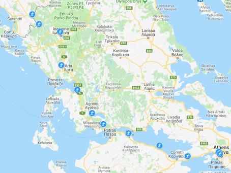 Route Part 1 - Athens to Albania