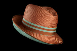 Orange Hat Blue Striped Ribbon 2