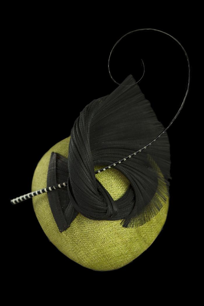 Lime Black Fabric Swirl