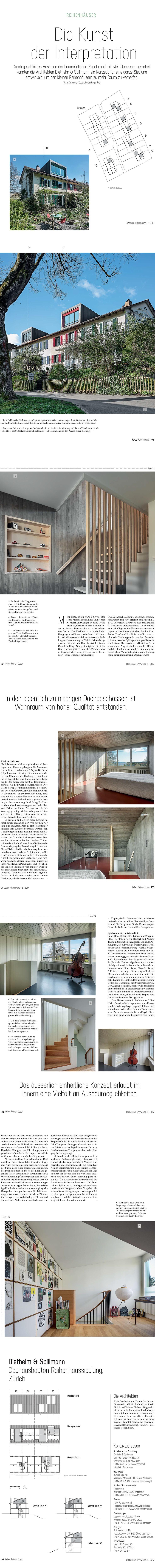 Dachausbau Siedlung Frauentalweg, Diethelm & Spillmann, Renovation, Sanierung, Otto Glaus