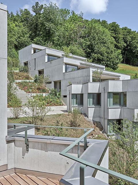 Sommerhalde Uerkheim Terrassenhaus Beton Diethelm & Spillmann