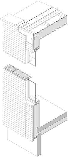 Passivhaus Mostelberg Fassadenschnitt