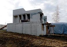 Passivhaus Mostelberg Rohbau Speichermasse