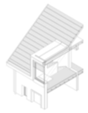 Axonometrie, Dachausbau, Wohnkolonie Hürst, Diethelm & Spillmann