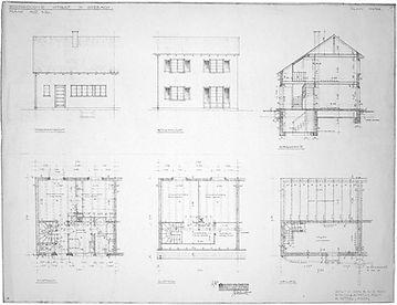 Hürstholzstrasse, Originalplan 1933, Wohnkolonie Hürst, Diethelm & Spillmann
