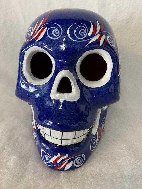 LA Dodgers Skull