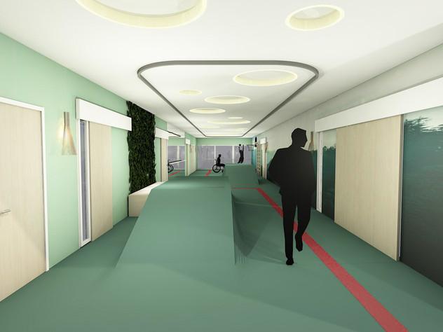 Tulevaisuuden sairaalan terapiakäytävä