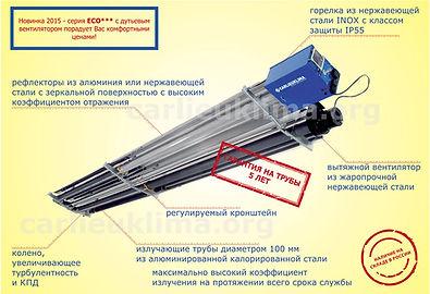 Инфракрасный обогреватель темного типа EURAD