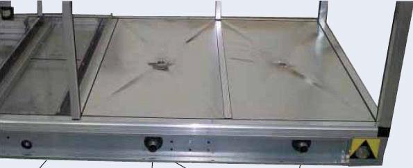 Полы выполнены с дренажом для отвода дезинфицирующей жидкости
