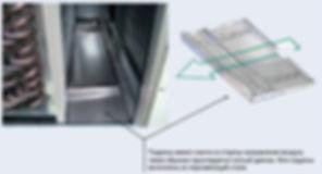 Дренажные поддоны выполнены с уклоном, что не позволяет образовываться застоявшейся жидкости