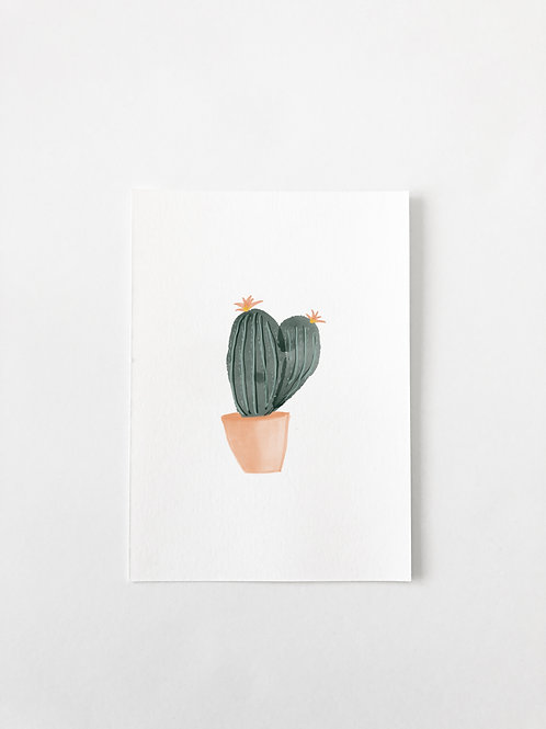 CHUNKY CACTUS FLOWER GREETING CARD